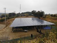 使用していない農耕地に産業用太陽光発電システムを導入した事例